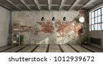 empty living room in industrial ... | Shutterstock . vector #1012939672