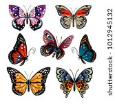 set of different multicolored... | Shutterstock .eps vector #1012945132