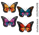 set of different multicolored... | Shutterstock .eps vector #1012945498
