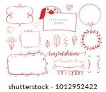 vector set of different... | Shutterstock .eps vector #1012952422