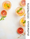 cold refreshing drink with... | Shutterstock . vector #1012965376