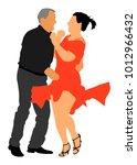 elegant latino dancers couple... | Shutterstock .eps vector #1012966432