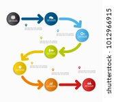 infographic template. vector... | Shutterstock .eps vector #1012966915