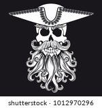 pirate symbol jolly roger with... | Shutterstock . vector #1012970296
