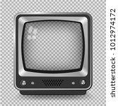 vector retro television mock up ... | Shutterstock .eps vector #1012974172