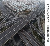 aerial view of highway and... | Shutterstock . vector #1012974325