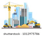 building work process with... | Shutterstock .eps vector #1012975786