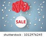 sale mobile hanging on sky ... | Shutterstock .eps vector #1012976245