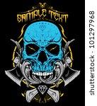 skull vector illustration | Shutterstock .eps vector #101297968