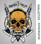 skull vector illustration | Shutterstock .eps vector #101297995