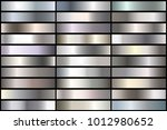 set of realistic silver... | Shutterstock .eps vector #1012980652