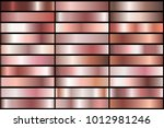 set of realistic rose gold... | Shutterstock .eps vector #1012981246