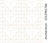 abstract geometric 3d grid... | Shutterstock .eps vector #1012981786