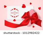 valentines day template design. ... | Shutterstock .eps vector #1012982422