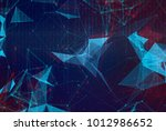 abstract polygonal space low... | Shutterstock . vector #1012986652