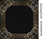 vintage retro style invitation  ... | Shutterstock .eps vector #1012993192