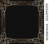 vintage retro style invitation  ... | Shutterstock .eps vector #1012993195