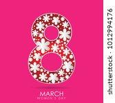 march 8. international women's... | Shutterstock .eps vector #1012994176