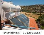 green energy concept. solar...   Shutterstock . vector #1012996666