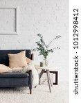 modern living room interior... | Shutterstock . vector #1012998412