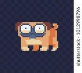 pekingese. cute dog. pixel art...   Shutterstock .eps vector #1012998796