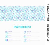 psychologist concept with thin... | Shutterstock .eps vector #1012999858