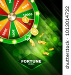 wheel of fortune gambling... | Shutterstock .eps vector #1013014732