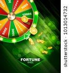 wheel of fortune gambling... | Shutterstock .eps vector #1013014732