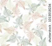 seamless pattern of hand drawn...   Shutterstock .eps vector #1013018236