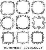 frame for art work decoration. | Shutterstock .eps vector #1013020225