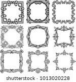 frame for art work decoration. | Shutterstock .eps vector #1013020228