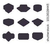 set of black badge shape.... | Shutterstock .eps vector #1013028445