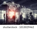 international business... | Shutterstock . vector #1013029462