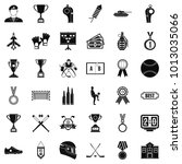extra prize icons set. simple... | Shutterstock .eps vector #1013035066