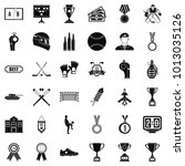 honorary badge icons set.... | Shutterstock .eps vector #1013035126