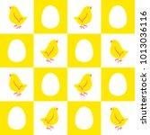 easter seamless vector pattern...   Shutterstock .eps vector #1013036116