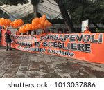 Small photo of Venice Italy, 16 September 2017, demonstration against the vaccination obligation.