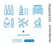 vaccination thin line icons set ... | Shutterstock .eps vector #1013039956