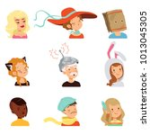 strange people characters set ... | Shutterstock .eps vector #1013045305