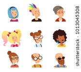 strange people characters set ... | Shutterstock .eps vector #1013045308