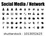 social media and network icons | Shutterstock .eps vector #1013052625