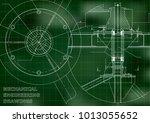 mechanical engineering drawing. ... | Shutterstock .eps vector #1013055652