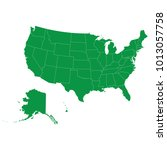 united states map isolated on...   Shutterstock .eps vector #1013057758
