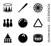 hit icons. set of 9 editable... | Shutterstock .eps vector #1013060626