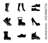 boot icons. set of 9 editable... | Shutterstock .eps vector #1013060716