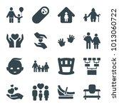 family icons. set of 16... | Shutterstock .eps vector #1013060722