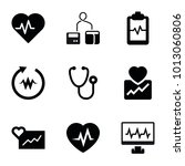cardiology icons. set of 9... | Shutterstock .eps vector #1013060806