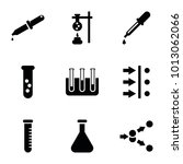 experiment icons. set of 9... | Shutterstock .eps vector #1013062066