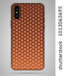 hexagon cover smartphone on... | Shutterstock .eps vector #1013063695