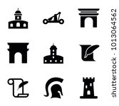 history icons. set of 9...   Shutterstock .eps vector #1013064562